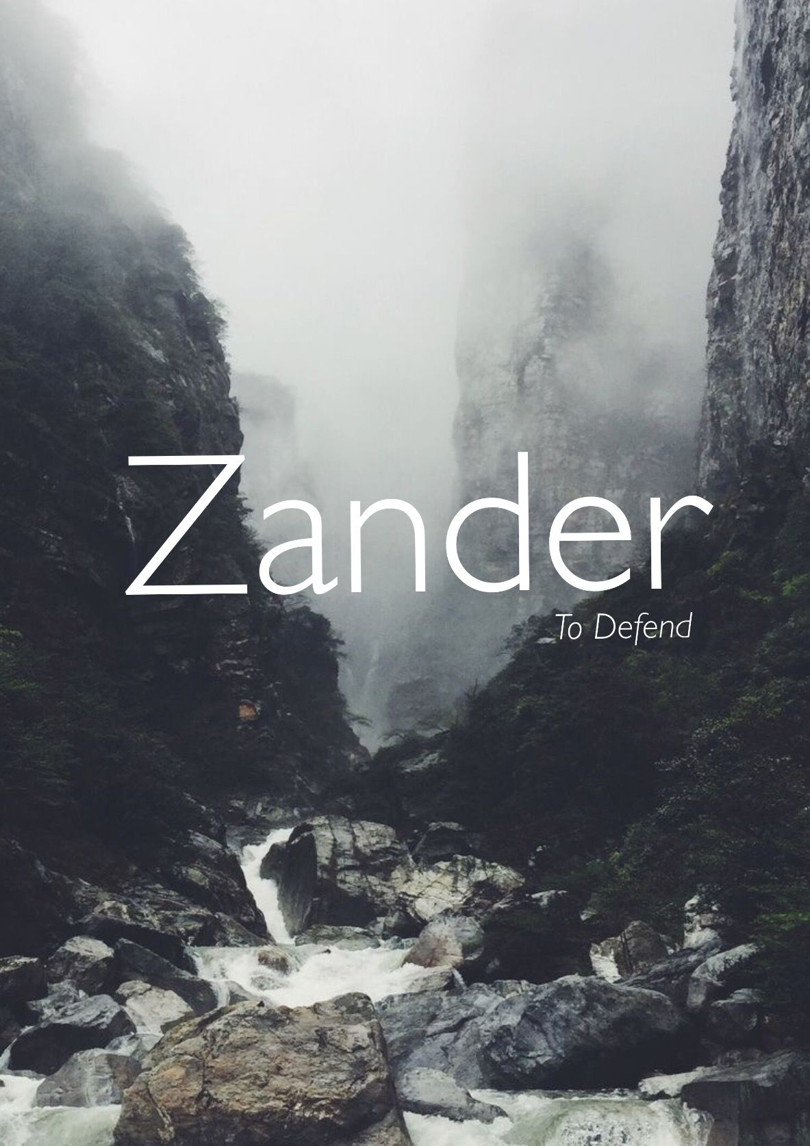 zander variation of alexander to defend defender of men strong