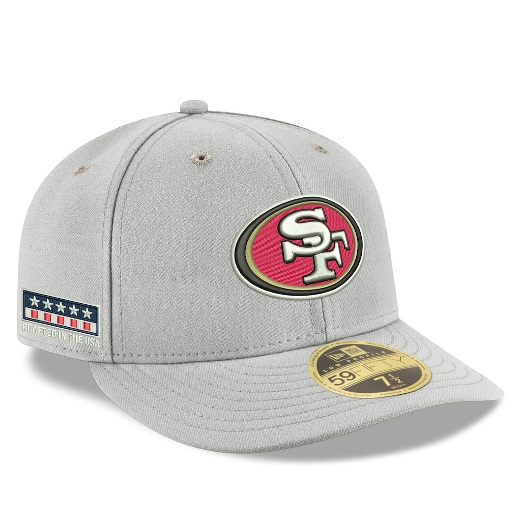 cheapest cheap price super quality Men's New Era Gray San Francisco 49ers Crafted in the USA Low ...