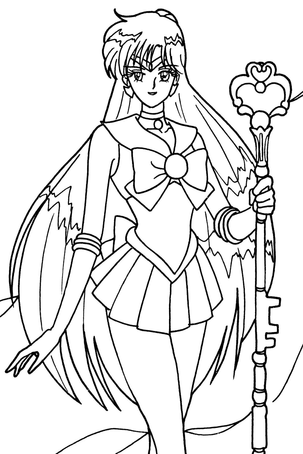 pluto003.jpg (1200×1794) Sailor moon coloring pages