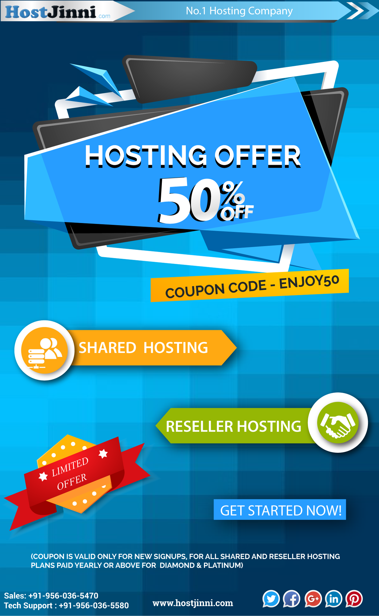 BEST HOSTING OFFER 2018 50 DISCOUNT COUPON CODE