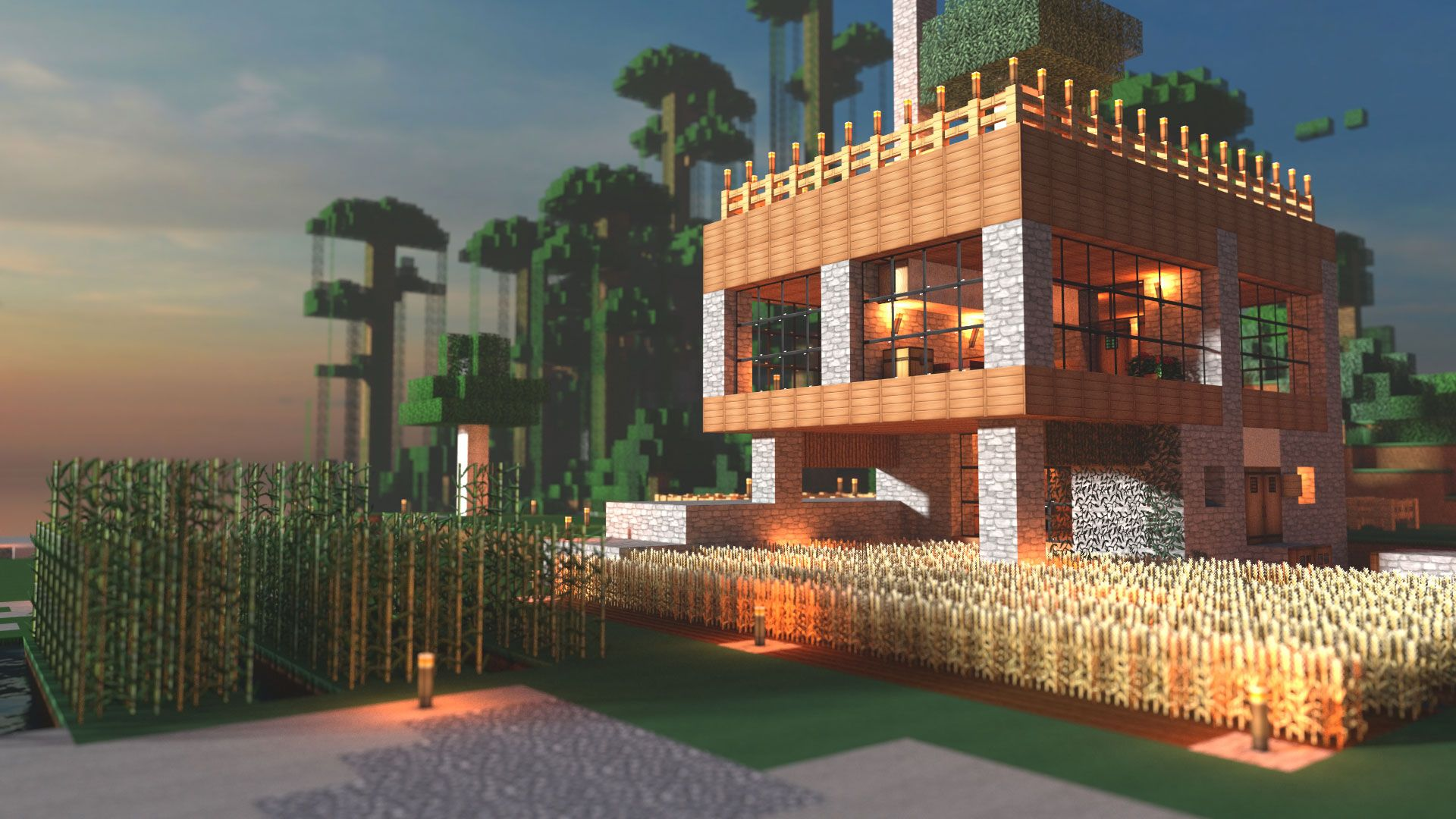 Modern Architecture House Minecraft modern farmhouse minecraft render | minecraft house | pinterest