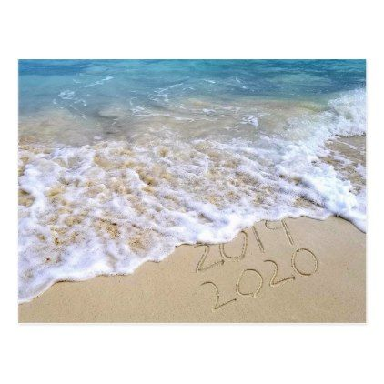 New Year 2020 seashore thank you Postcard | Zazzle.com