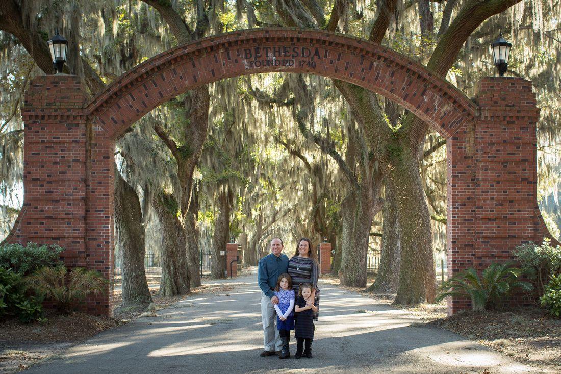 Family session at Bethesda Academy Savannah, Georgia  ©Marianne Lucille Photography
