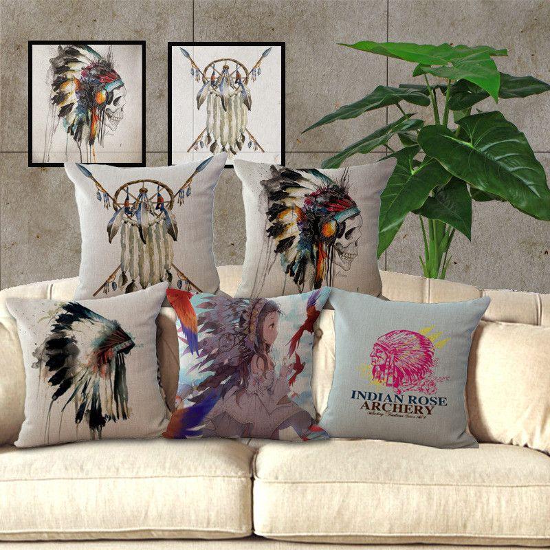 Beautyhouse Indian Skeleton Dreamcatcher Pillow Cover Wholesale
