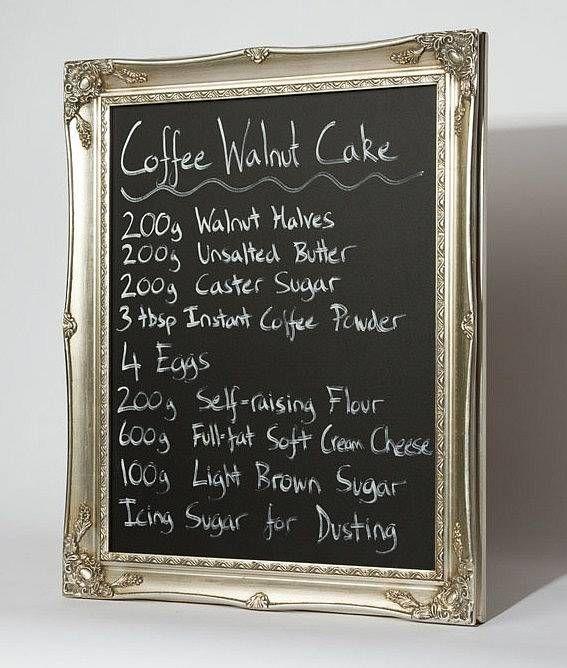 Ornate Silver Framed Blackboard Chalkboard Blackboards - magnettafel für die küche