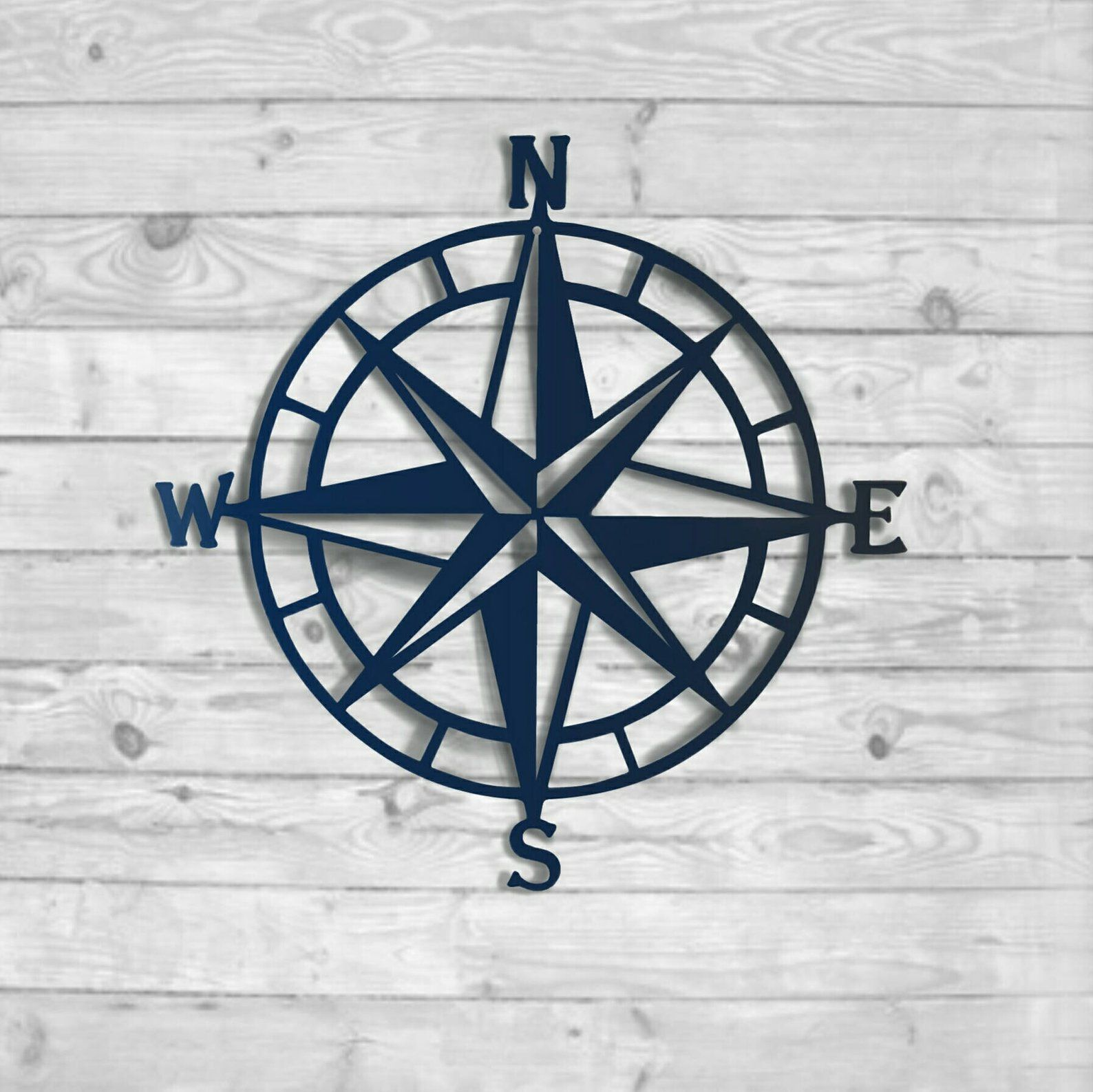 Nautical Compass Rose Metal Wall Decor 100 Color Choices