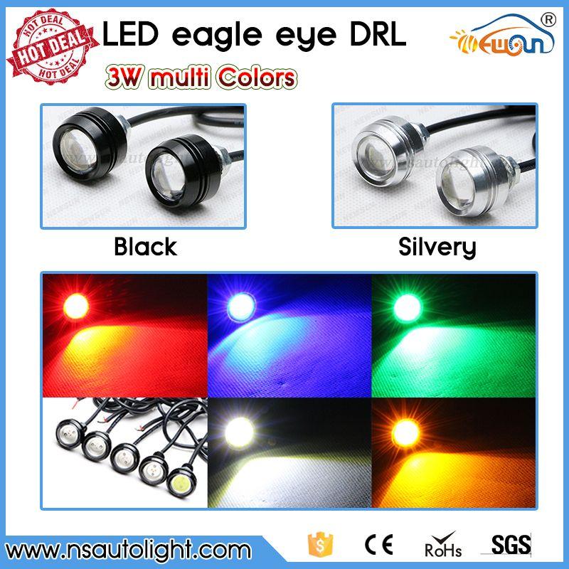 2pcs High Power 3W LED Eagle Eye Light Fog Light Motorcycle Light DRL Daytime Running Lights Tail Backup Parking Light Car Motor Marker Lights
