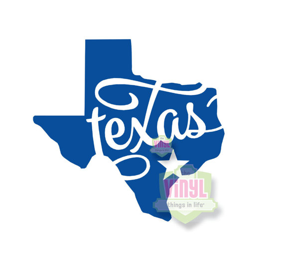 Texas decal, Texas state sticker, State of Texas, Texas