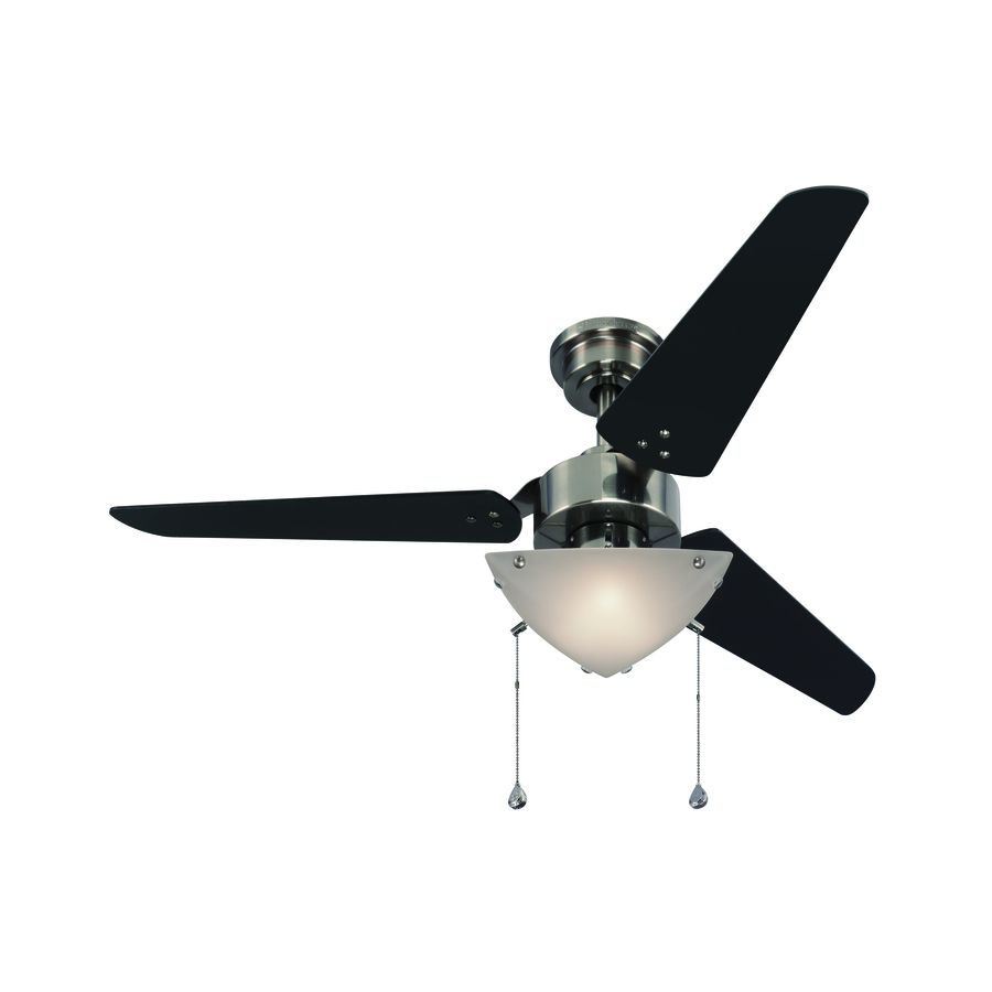 Shop Harbor Breeze Impact 48 In Polished Pewter Ceiling Fan With Light Kit Energy Star At Lowes Com Ceiling Fan With Light Ceiling Fan Silver Ceiling Fan