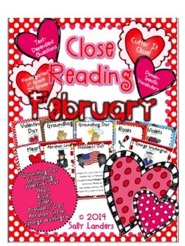 cuttin 39 it close february close reading pack kindergarten 1st 2nd grade close reading. Black Bedroom Furniture Sets. Home Design Ideas
