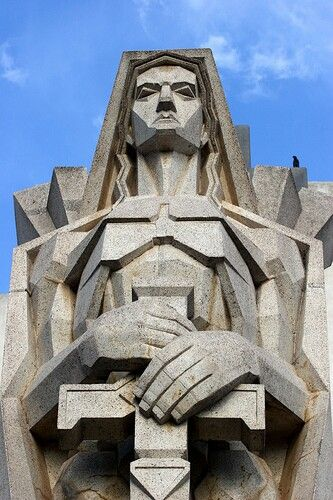 Salamone Architect Azul Cementery Argentina Art Deco Buildings Art Deco Sculpture Architectural Sculpture