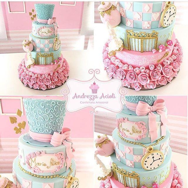Inspiração linda bolo por @andrezzaacioli