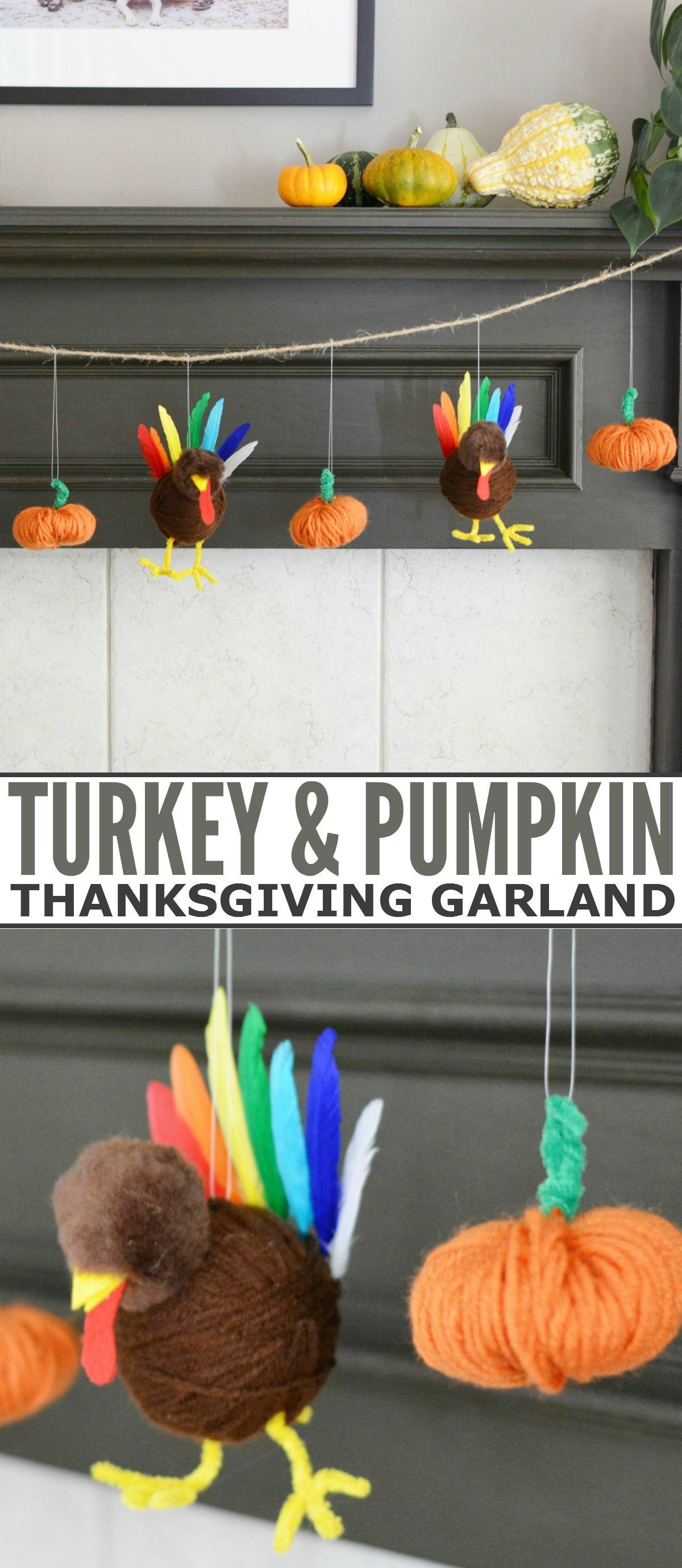 Turkey and Pumpkin Thanksgiving Garland - Frugal Mom Eh!,  #Frugal #Garland #Mom #Pumpkin #Thanksgiving #Turkey