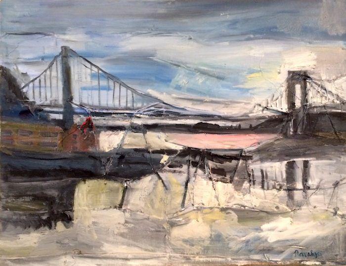 Navahjo Stoller Oil Paintings Hudson Heights George Washington Bridge Piantings Gwb With Images Bridge