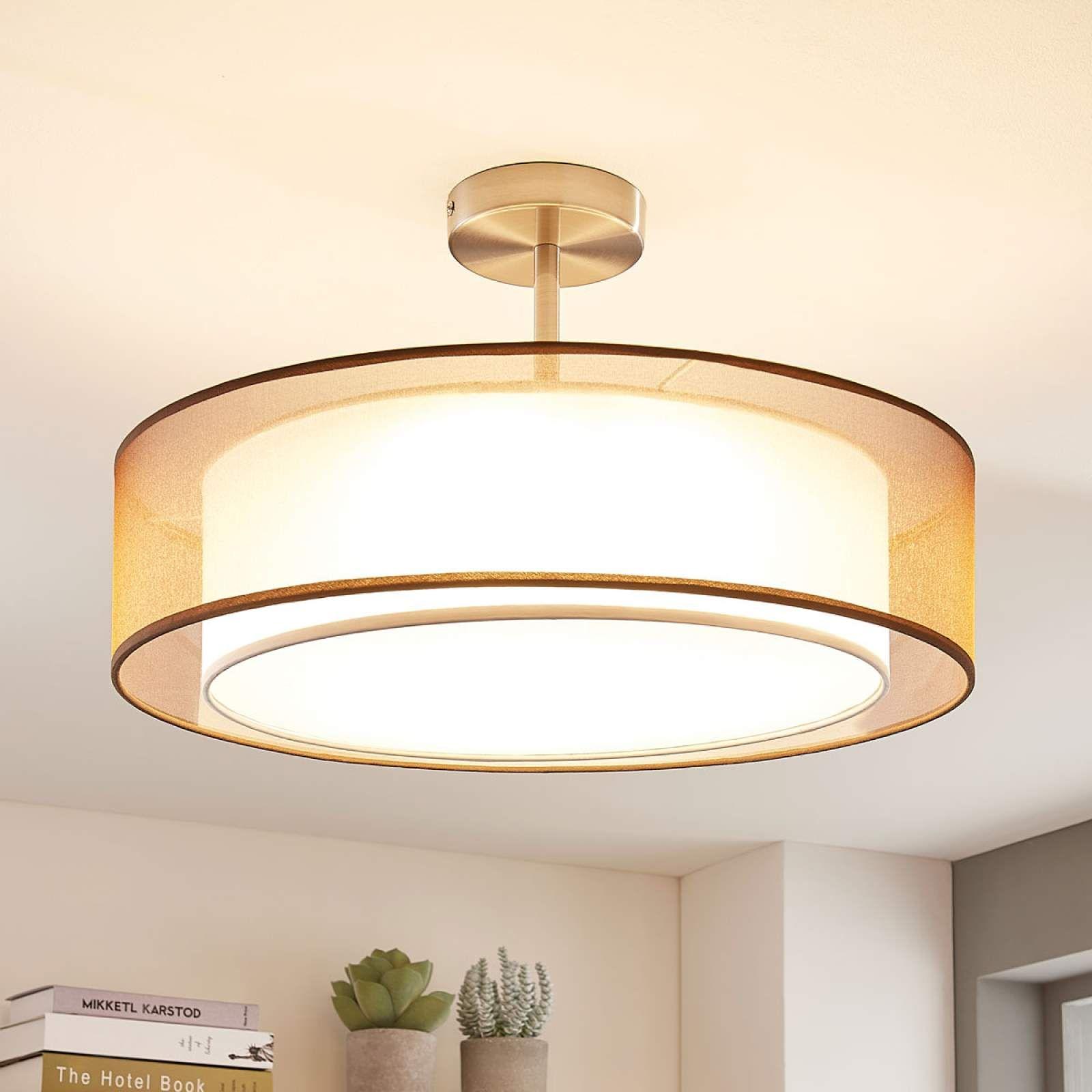 LED-Deckenlampe Pikka, 19-stufig dimmbar, braun  Led deckenlampen