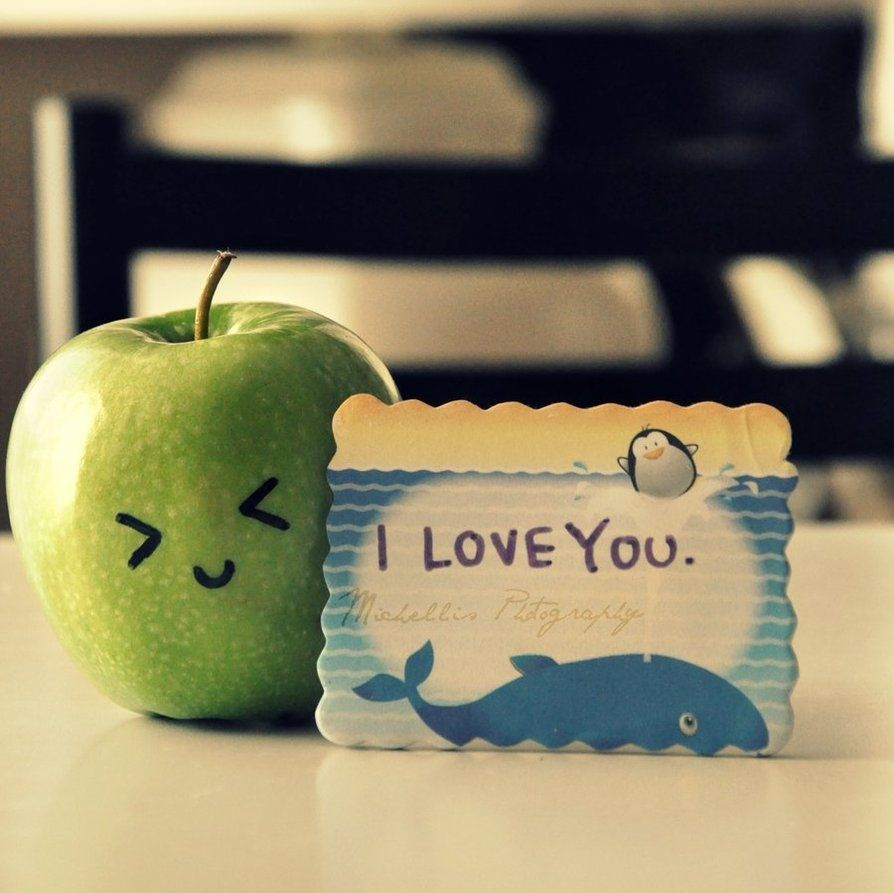 I Love You Pictures Cute apple, cute, i love you, love