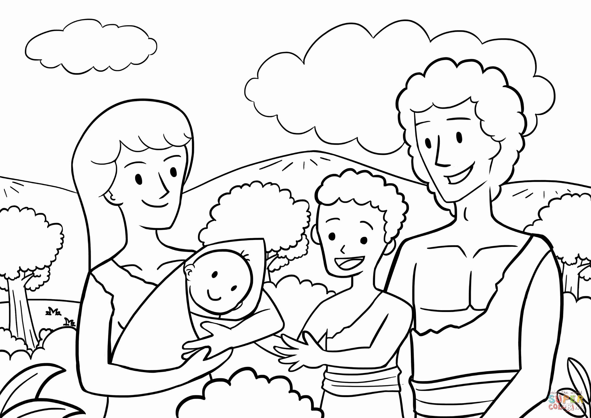 28 Adam And Eve Coloring Page In