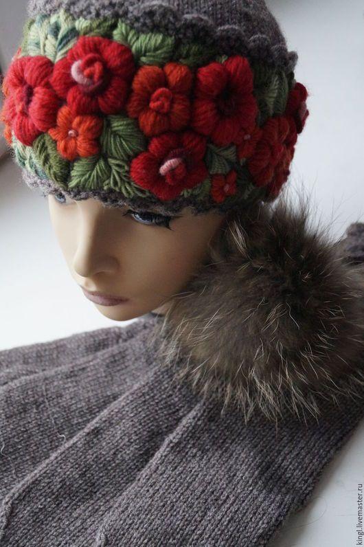 купить вязаную шапку ручной работы