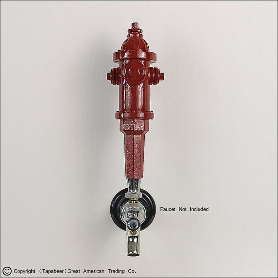 Custom made Fire Hydrant beer tap handle has a nozzle handle  A