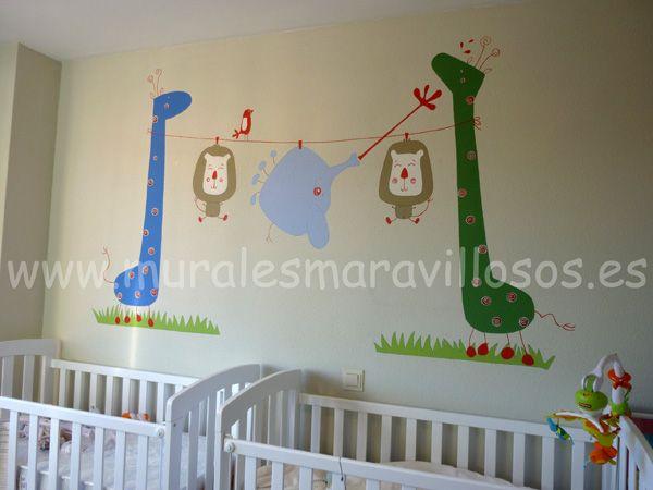 Pintura y decoraci n del cuarto del beb muchas ideas - Pintura habitaciones ninos ...
