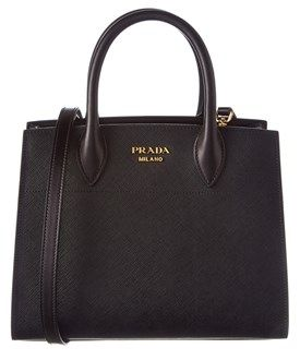 e0129261fe8c Prada Prada Bibliotheque Saffiano   Calf Leather Tote Pink Leather