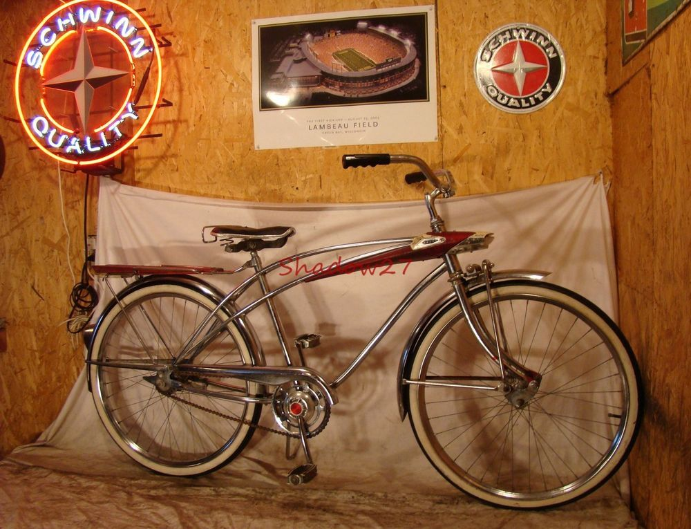 e3cd33a7ef2101 1960s SEARS SPACELINER MENS CHROME TANK BIKE VINTAGE SPACE AGE BICYCLE  MURRAY!
