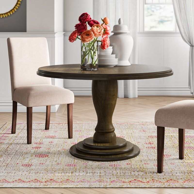 Rosa Solid Wood Dining Table Joss Main Wood Dining Table