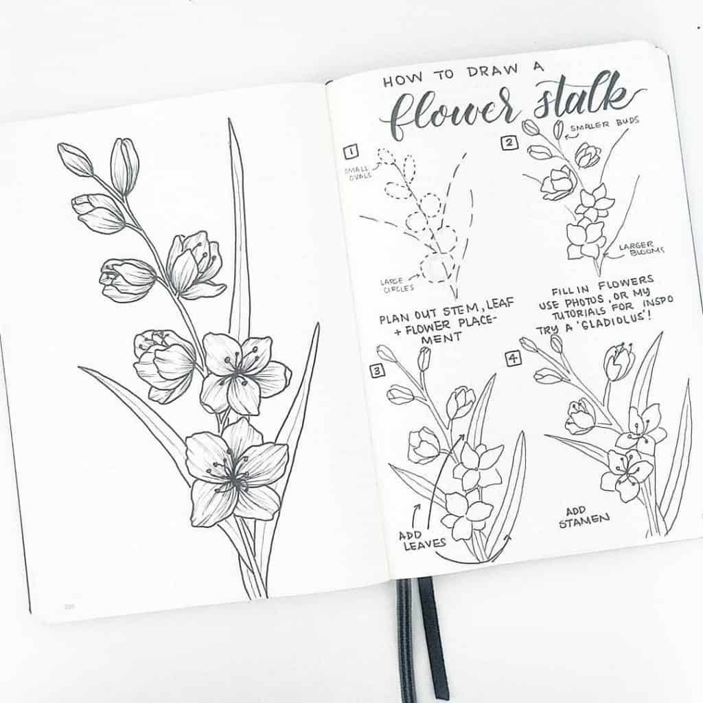 Lots Of Doodle Step By Steps Flower Drawing Flower Drawing Tutorials Flower Doodles