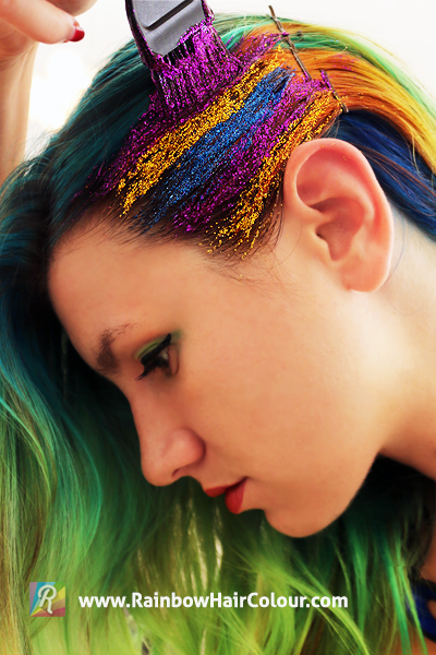 make hair glitter
