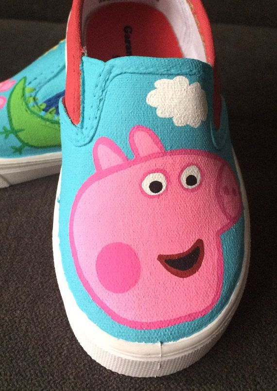 PEPPA PIG shoes hand painted by