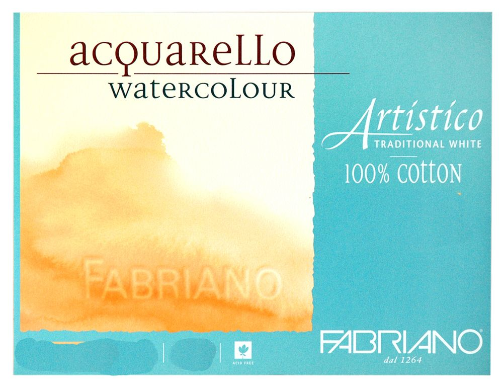 Fabriano Artistico Trad Wht Block 140 Lb 300 Gsm Hot Press