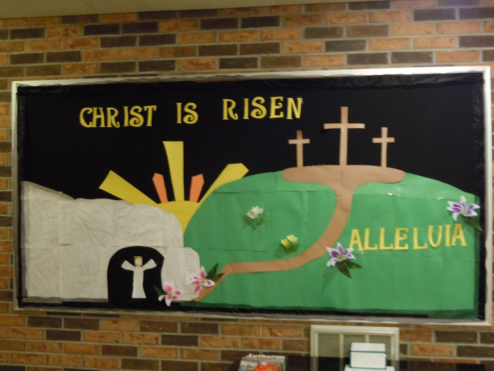 Christian Easter Bulletin Board Ideas - Easter bulletin board