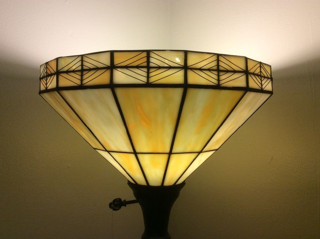 Lamp Tiffany Style Stained Glass Leaded Replacement Floor Lamp