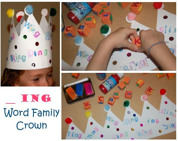 word family craft -ing crown