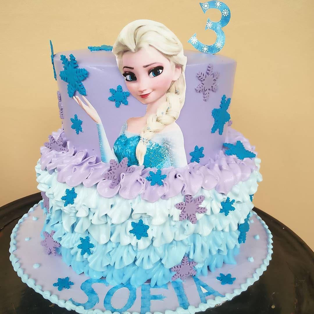 #pastel #rufflecakes #frozen #cumpleaños #postresdemami