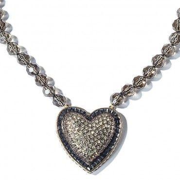 """Heidi's Heart Breaker"" Crystal Necklace - Valentine's Sale - Sale - Tuesday's Treasures"