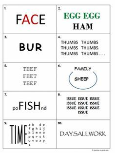 Rebus Puzzles from Puzzle to Print | Summer Activities | Pinterest ...