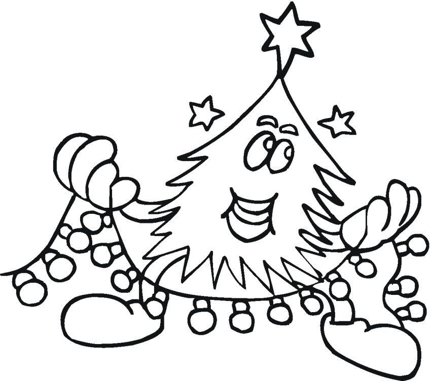holiday lights coloring page printable