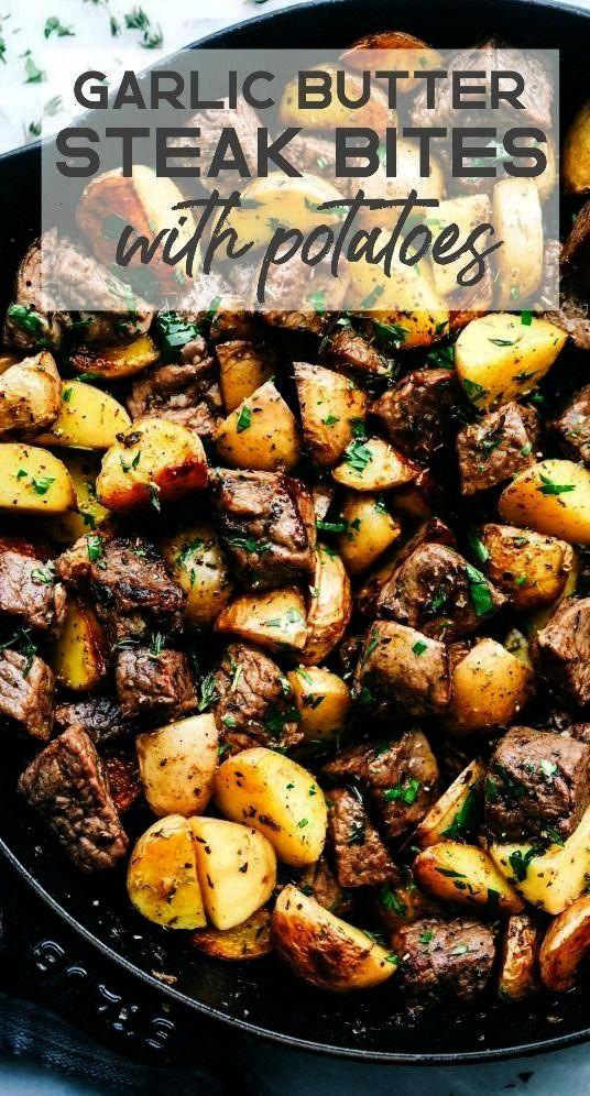 Herb Steak Bites with Potatoes | The Recipe Critic#bitesGarlic Butter Herb Steak Bites with Potatoe