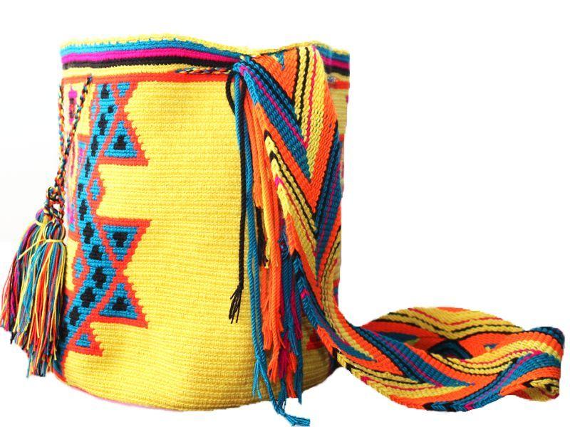 Vivid Yellow Wayuu Mochila #mochila #wayuu #multicolor