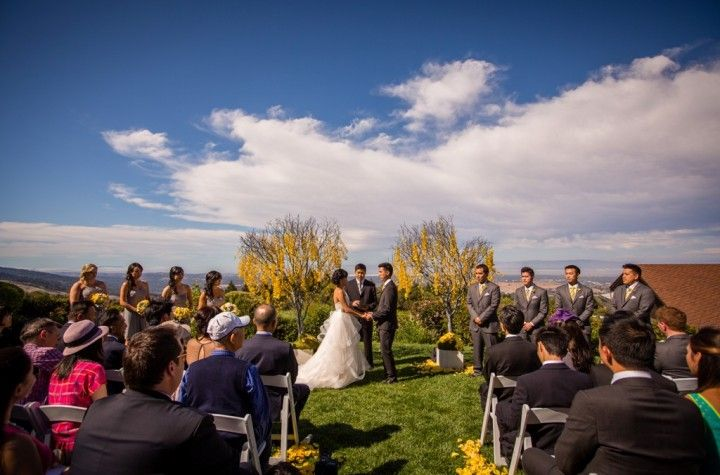 Love the fall colors! Thomas Fogarty Winery | Amy Burke Designs | Choco Studio Photography
