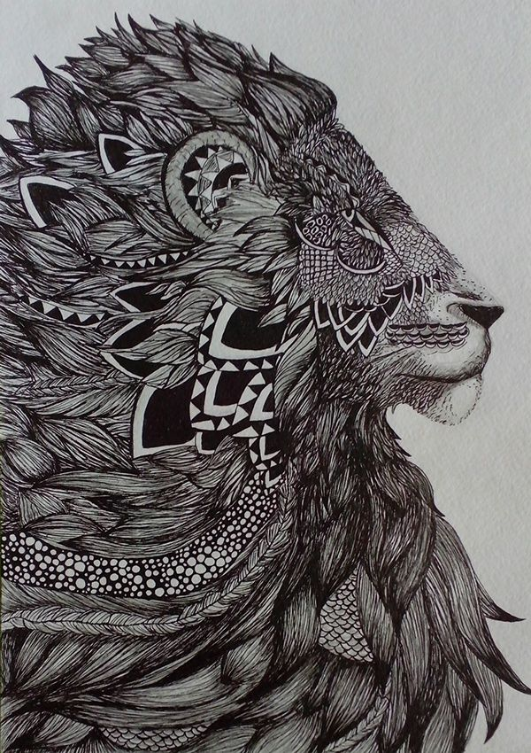 zentangle lion images galleries with. Black Bedroom Furniture Sets. Home Design Ideas