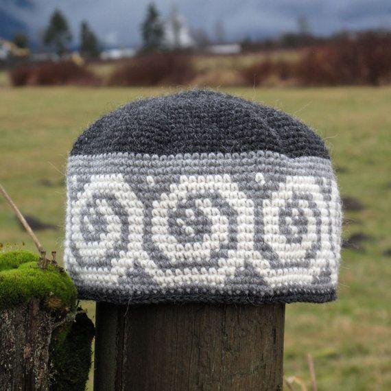 858d91169fd 100 Alpaca Tapestry Crochet Beanie Wool Hat All by UpthePitt