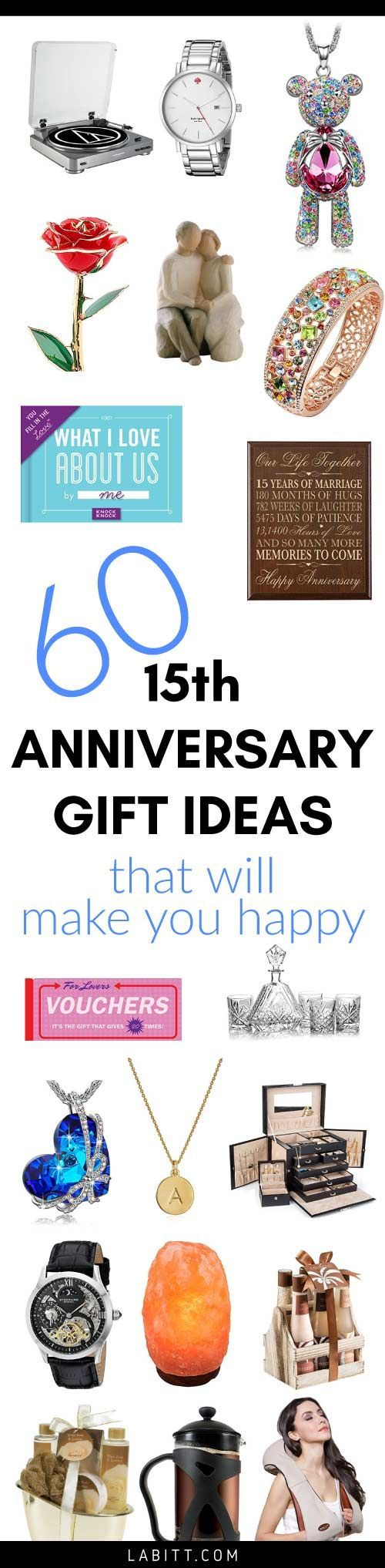 15th Wedding Anniversary Gift Ideas for Her 15th wedding