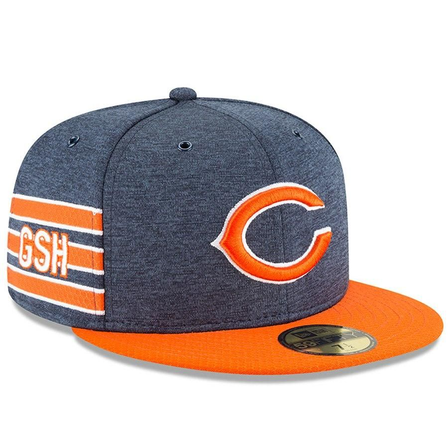 1352e3e09 Men s Chicago Bears New Era Navy Orange 2018 NFL Sideline Home Official  59FIFTY Fitted Hat