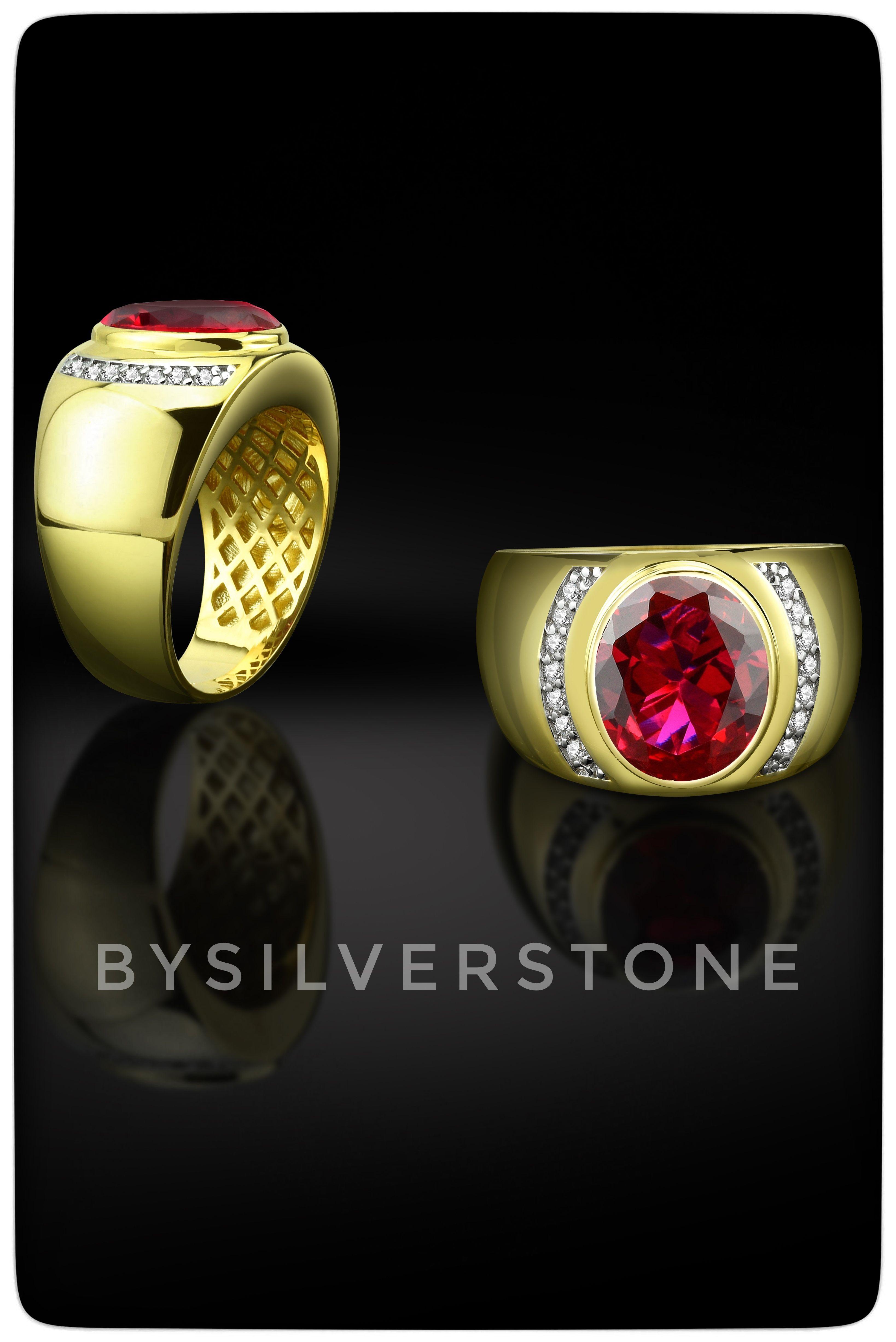 Gemstone Ring Cubic Zirconia Ruby Ring Gold Ring