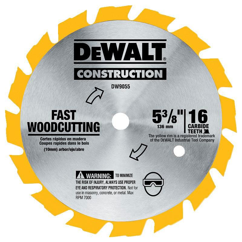 5 3 8 Saw Blade 16 Tooth Circular Saw Blades Cordless Circular Saw Dewalt