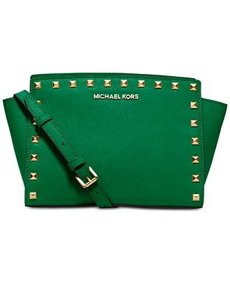 MICHAEL Michael Kors Selma Stud Medium Messenger - Crossbody & Messenger Bags - Handbags & Accessories - Macy's
