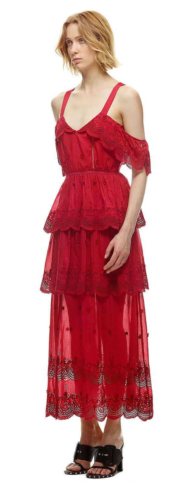 cb36c2f1bcf3 Raspberry Red Off-Shoulder Dress