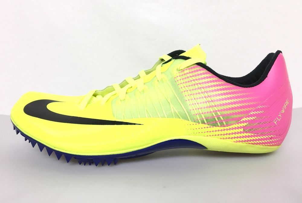 Nike Zoom Celar 5 Track Field Mens Size 11 Sprint Spikes 882023-999 Volt Pink